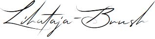 Preview image for Lihataja-Brush Font