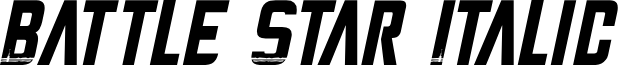 Battle Star Italic