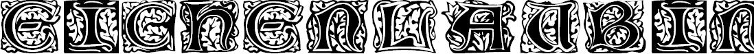 Preview image for Eichenlaub Initialen Font
