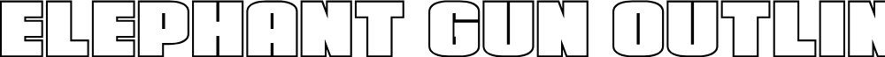 Elephant Gun Outline