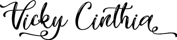 Preview image for Vicky Cinthia - Personal Use Font