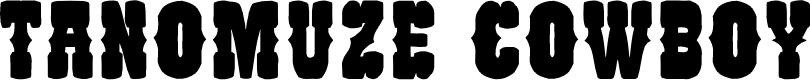 Preview image for Tanomuze Cowboy Font