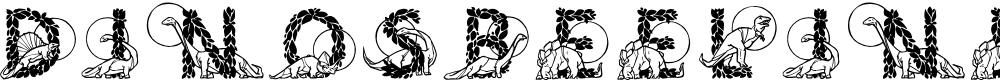 Preview image for DinosBeeline Font