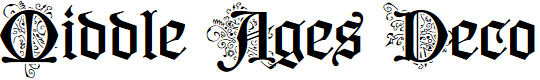 Preview image for Middle Ages Deco PERSONAL USE Font