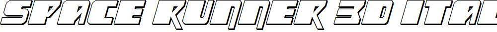 Space Runner 3D Italic