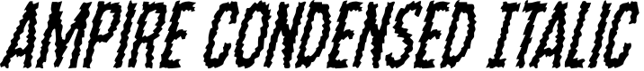 Preview image for Ampire Condensed Italic