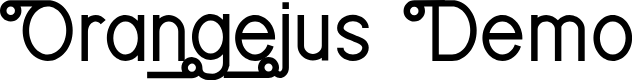 Preview image for Orangejus Demo Font
