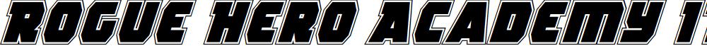 Rogue Hero Academy Italic