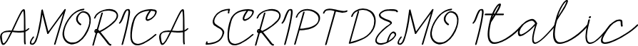 AMORICA SCRIPT DEMO Italic