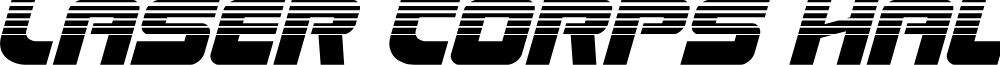 Laser Corps Halftone Italic