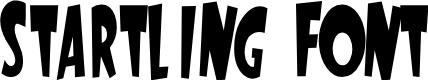 Preview image for StartlingFont