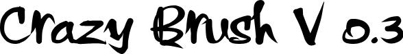 Preview image for Crazy Brush V 0.3 Font