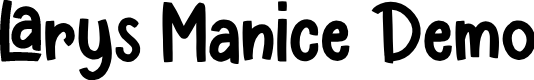 Preview image for Larys Manice Demo Font