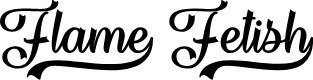 Preview image for Flame Fetish Regular Font