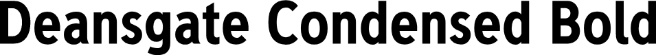 Preview image for Deansgate Condensed Bold Font