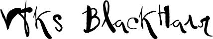 Preview image for Vtks BlackHair Font