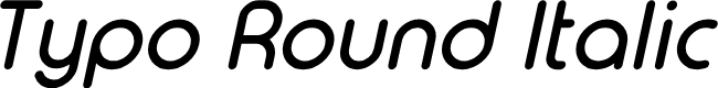Preview image for Typo Round Italic Demo