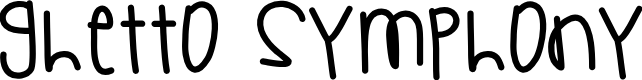 Preview image for GhettoSymphony Font