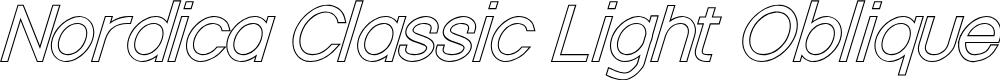 Preview image for Nordica Classic Light Oblique Outline