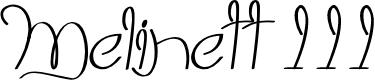 Preview image for Melinett 3 - LJ-Design Studios Italic Font