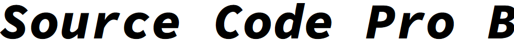 Preview image for Source Code Pro Black Italic