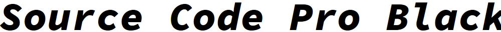 Source Code Pro Black Italic