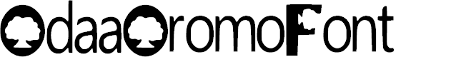 Preview image for Odaa_Oromo_Font