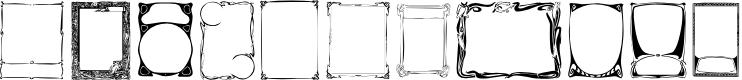 Preview image for KR Deco Frames Font