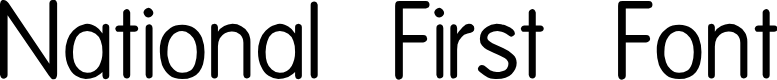 Preview image for National First Font