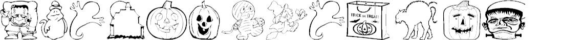 Preview image for AEZ halloween dingbats Font