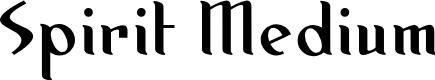 Preview image for Spirit Medium Font