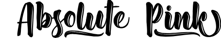 Preview image for Absolute Pink - Personal Use Font