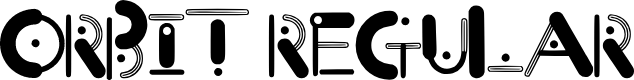 Preview image for Orbit Regular Font