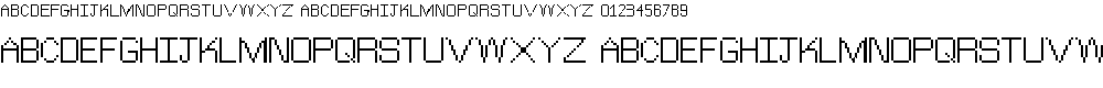Preview image for TheJewishBitmap Font