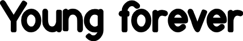 Preview image for Young forever Font