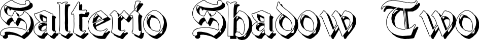 Preview image for Salterio Shadow Two Font