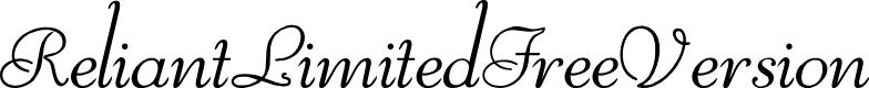 Preview image for ReliantLimitedFreeVersion Font