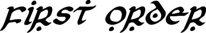 First Order Italic