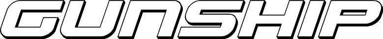 Preview image for Gunship 3D Italic Italic