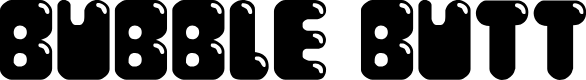 Preview image for Bubble Butt Regular Font