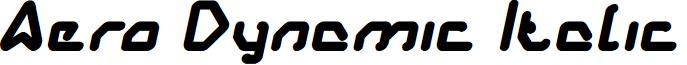 Aero Dynamic Italic