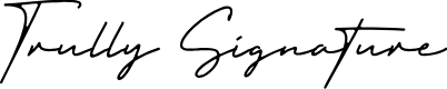 Trully Signature by Typesthetic Studio