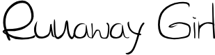 Preview image for SL Runaway Girl Font