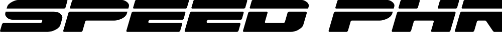Speed Phreak Semi-Italic