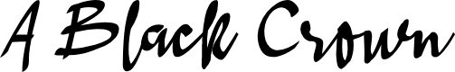 Preview image for A Black Crown Font