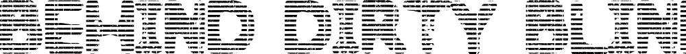 Preview image for Behind Dirty Blinds Font
