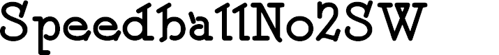 Preview image for SpeedballNo2SW Font