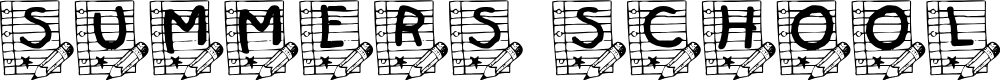 Preview image for Summer's School Paper Font