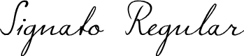 Preview image for Signato Regular