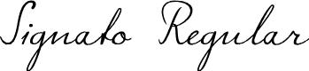 Preview image for Signato Regular Font